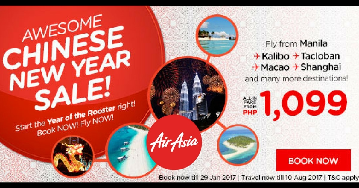 AirAsia Philippines Chinese New Year Promo 2017