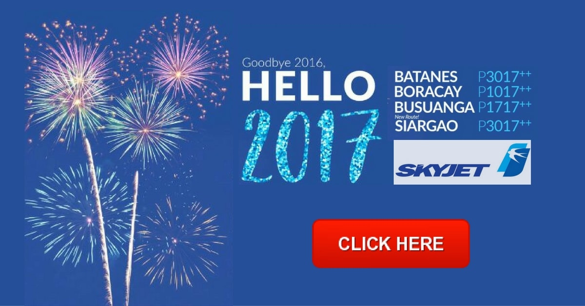 Skyjet Airlines New Year Promo 2017