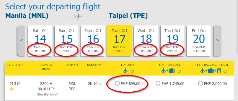 Manila to Taipei Cebu Pacific Promo