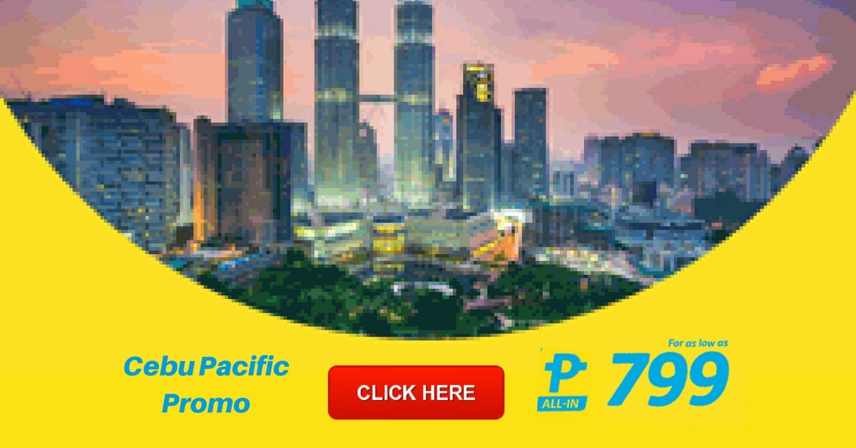 Cebu Pacific Promo for as Low as P799