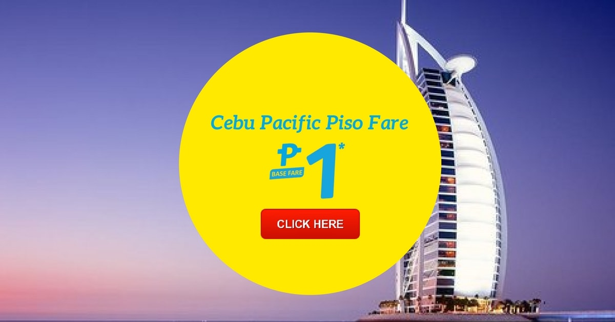 ₱1 CEBU PACIFIC [PISO FARE] Updated Promo 2017-2018!