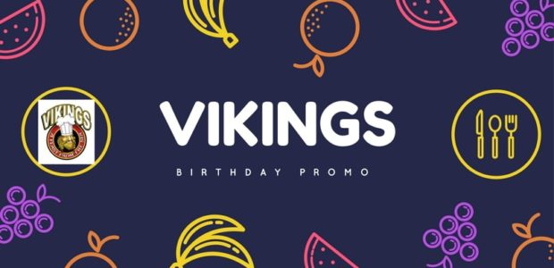 vikings birthday promo